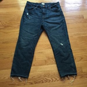 Jcrew high waisted straight leg jean. Excellent!